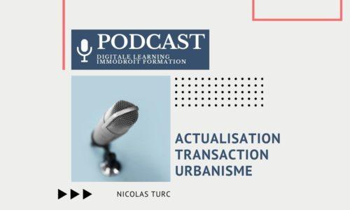 Actualisation – Transaction – Urbanisme